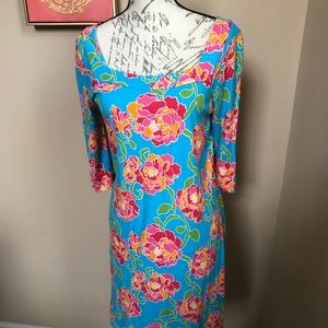 Lilly Pulitzer Turquoise Floral Dress